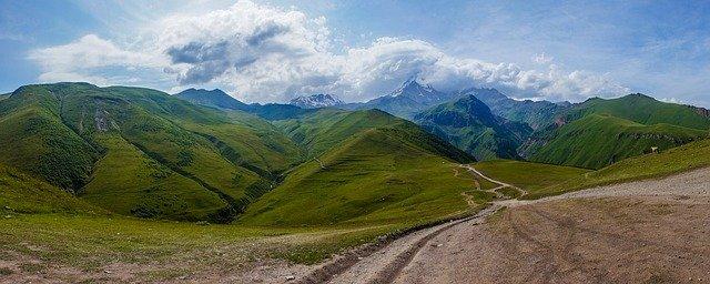výhled na Gruzii