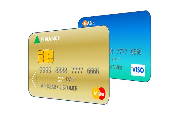 platební karty ilustrace