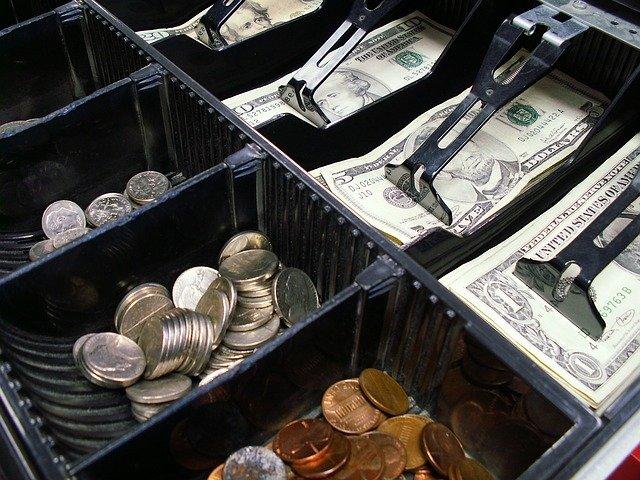 zásuvka pokladny