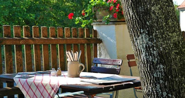 zahradní restaurace