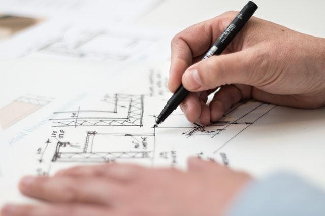 plán domu, projektant, tužka